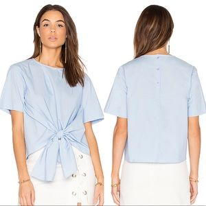 J.O.A Los Angeles Lue Tie Front Blouse (Revolve)